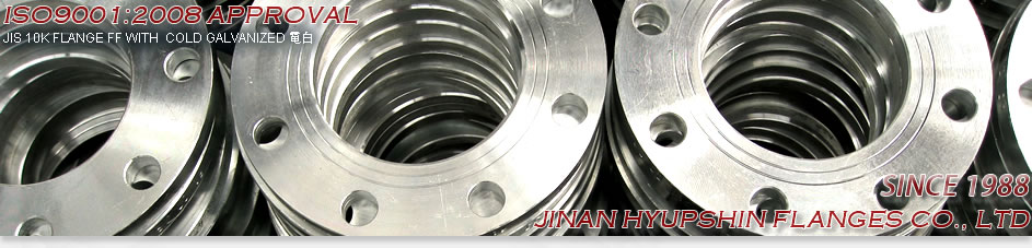 PN16 FLANGE, DIN PN16 FLANGE, TWO WATER LINE, YELLOW PAINT, PN10 FF FLANGE, PN16 RF FLANGE, JINAN HYUPSHIN FLANGES CO., LTD